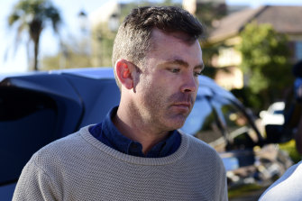 Nick Warby leaves Hornsby Local Court in Sydney.