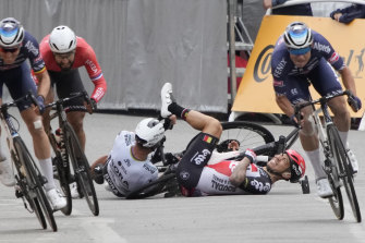 Caleb Ewan was the top-billed sprinter at the Tour de France this year but crashed out on stage three.