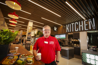 Coles chief executive Steven Cain at the company's first 'grocerant' store in Tooronga.