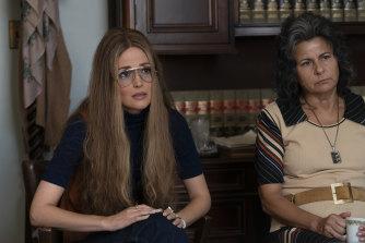 Rose Byrne as Gloria Steinem, Tracey Ullman as Betty Friedan.