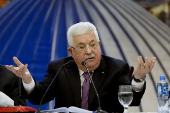 Palestinian President Mahmoud Abbas was clear about his distaste for the deal.