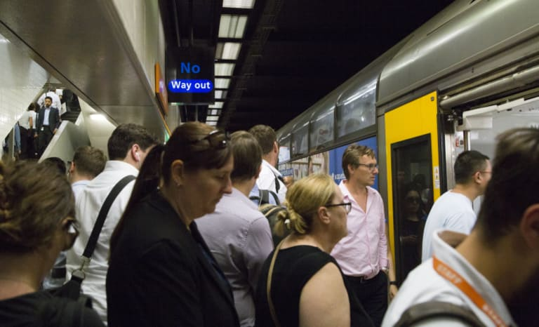 "Sydney trains were judged to run ""on time"" if they were 5 minutes late"