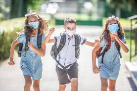 Masks are compulsory at school for students from grade three up, and advised for the younger year levels.