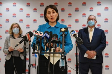 NSW Chief Health Officer Kerry Chant and Premier Gladys Berejiklian defended the decision to have some Westfield shoppers test without mandatory isolation.