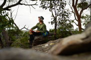 Tristan White poses for a photograph in the Berowra Valley National Park, in Sydney.