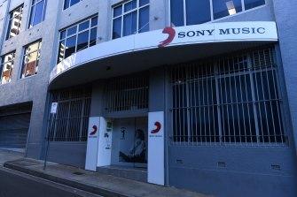 Sony Music Australia's Sydney Office.