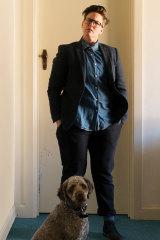 Gadsby with her dog, Douglas.