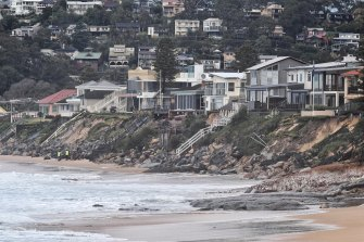 Heavy surf conditions created by a Tasman low threaten to further damage Terrigal Beach at Wamberal.