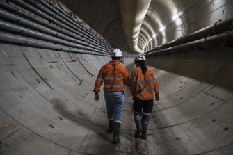 The Metro West rail line will run underground from central Sydney to Westmead.