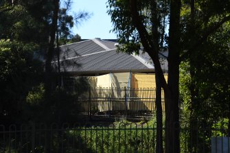 Screens shield the buildings at Anglicare's Newmarch House aged care facility.