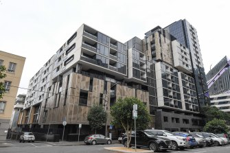 A Blackwood Street apartment building in North Melbourne is now a COVID-19 exposure site.