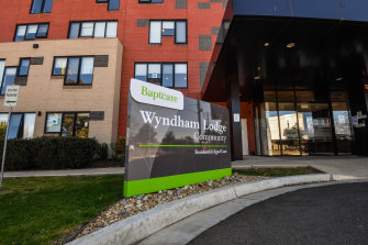 Baptcare Wyndham Lodge received a near-perfect assessment from the commission in January.