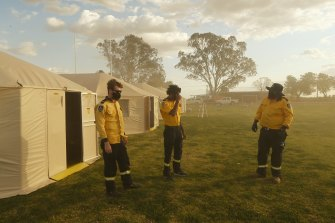 Police, NSW Health and emergency services in Wilcannia are operating out of a newly stood up base camp.