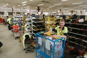 David Archer at the Australia Post  sorting plant in Seven Hills.