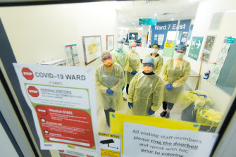 The Austin's coronavirus screening clinic and ward as the hospital and medical staff prepare for up to a 400 per cent increase in the number of patients they will need to treat.