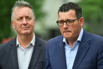 Premier Daniel Andrews and Mental Health Minister Martin Foley addressed the media on Sunday morning.