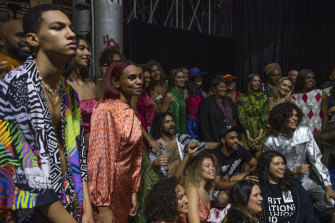 History-making ... The First Nations Fashion and Design show at Australian Fashion Week.