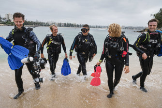 Dive Centre Manly dive master Ester Borean took a group of divers out for a dive on Tuesday in Cabbage Tree Bay on Shelly Beach.