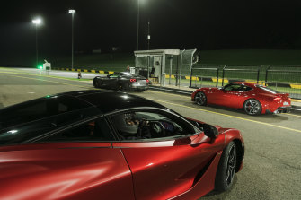 SMSP Track Night at Eastern Creek Raceway, where members of the public can drive their own cars throughout the evening on the race track.