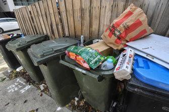 Food waste piled up during lockdown.