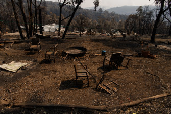 The aftermath of the bushfire that went through Dargan in the Blue Mountains, NSW.