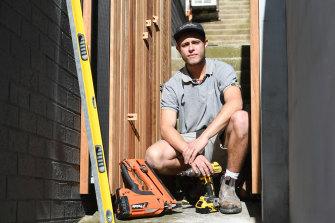 Jayden Fleischer is a fourth-year apprentice carpenter.