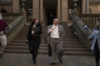 Barrister Hollie Blake and solicitor Tony Nikolic.