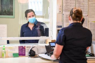 North Road Medical nurse Linda Gore andpractice manager Rebecca Laver.