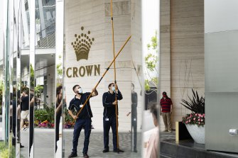 Crown Sydney opened on Monday but the casino is yet to start operating.