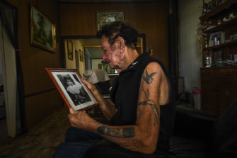 """""""She told me all the stories about her past ... She was definitely Aboriginal"""": Fred Dowling with a photo of his grandmother Annie Lewis."""