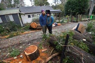 Thomas and Samantha Corbin no longer feel like flatlanders after living through the storm.