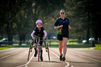 Matilda and Eryn have been enjoying running together.