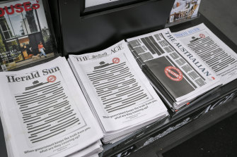 Newspaper front pages across all major media outlets on Monday.