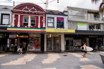 A quiet Manly Corso during the COVID-19 outbreak on Sydney's northern beaches.