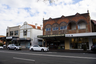 Woolworths wants to turn existing shops on Military Road, Mosman, into a small supermarket.