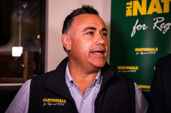 NSW Deputy Premier and Nationals leader John Barilaro is at odds with his own government.