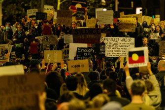 More than 1000 gathered in Sydney's CBD on Tuesday night.