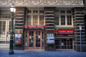 The Curry Vault restaurant in Melbourne's CBD will remain closed for the next fortnight.