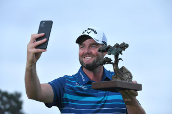 Marc Leishman celebrated his win at Torrey Pines over a couple of weeks.
