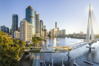Design images of the proposed Kangaroo Point bridge.