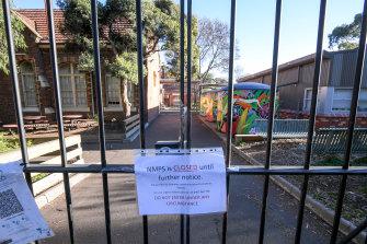 North Melbourne Primary School on Wednesday.