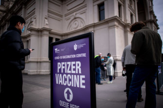 Victorians booked in for a vaccine in the city on Saturday will still be able to get their jabs.