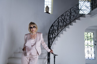Carla Zampatti at her home in Woollahra, Sydney.
