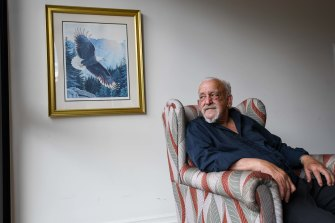 Graham Townsend, who lives at St Kilda's Sacred Heart aged care home, has not yet been vaccinated.