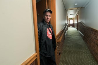 Dean Drommel is worried he will be sent back to an unsafe rooming house when lockdown ends.