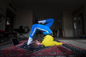 National Institute of Circus Arts student and contortionist Antonia Sassine.