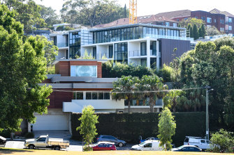 A stop-work order was issued last month to the developer of the apartment building in Bellevue Hill.