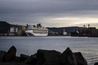 Ruby Princess Cruise Ship docked in Port Kembla.