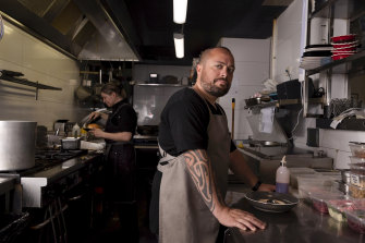 """Cronulla cafe owner Doug Opai says his business has been """"treading water""""."""