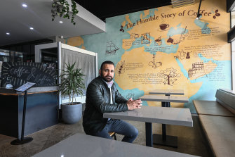 Syed Ahmed, owner of Humble Harry's Cafe.